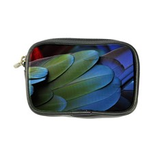 Feather Parrot Colorful Metalic Coin Purse