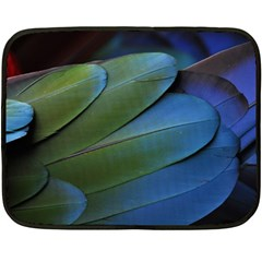 Feather Parrot Colorful Metalic Double Sided Fleece Blanket (mini)
