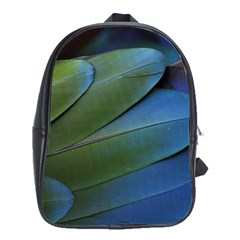 Feather Parrot Colorful Metalic School Bags(large)