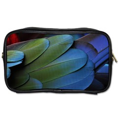 Feather Parrot Colorful Metalic Toiletries Bags