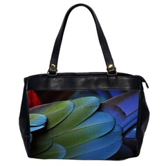 Feather Parrot Colorful Metalic Office Handbags (2 Sides)