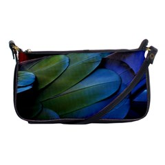 Feather Parrot Colorful Metalic Shoulder Clutch Bags