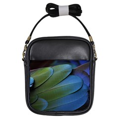 Feather Parrot Colorful Metalic Girls Sling Bags