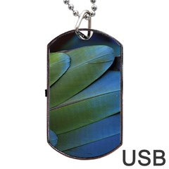 Feather Parrot Colorful Metalic Dog Tag Usb Flash (one Side)
