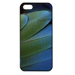 Feather Parrot Colorful Metalic Apple Iphone 5 Seamless Case (black)