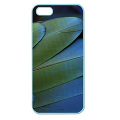 Feather Parrot Colorful Metalic Apple Seamless Iphone 5 Case (color)