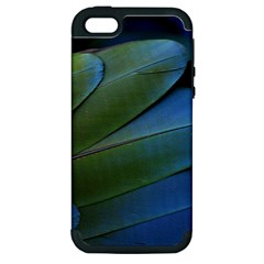 Feather Parrot Colorful Metalic Apple Iphone 5 Hardshell Case (pc+silicone)