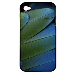 Feather Parrot Colorful Metalic Apple Iphone 4/4s Hardshell Case (pc+silicone)