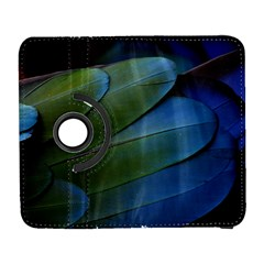 Feather Parrot Colorful Metalic Galaxy S3 (flip/folio)