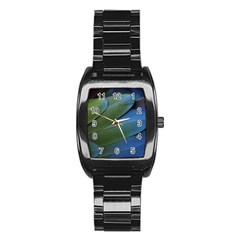 Feather Parrot Colorful Metalic Stainless Steel Barrel Watch