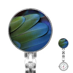 Feather Parrot Colorful Metalic Stainless Steel Nurses Watch