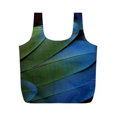 Feather Parrot Colorful Metalic Full Print Recycle Bags (m)