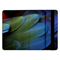 Feather Parrot Colorful Metalic Samsung Galaxy Tab Pro 12 2  Flip Case