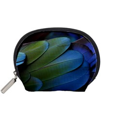 Feather Parrot Colorful Metalic Accessory Pouches (Small)