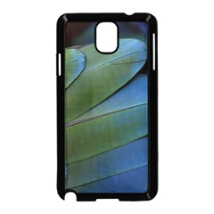 Feather Parrot Colorful Metalic Samsung Galaxy Note 3 Neo Hardshell Case (black)