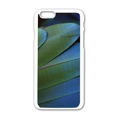 Feather Parrot Colorful Metalic Apple Iphone 6/6s White Enamel Case