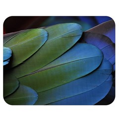 Feather Parrot Colorful Metalic Double Sided Flano Blanket (medium)