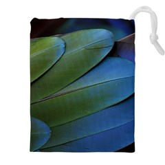 Feather Parrot Colorful Metalic Drawstring Pouches (xxl)