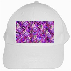 Flowers Abstract Digital Art White Cap