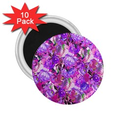 Flowers Abstract Digital Art 2 25  Magnets (10 Pack)