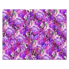 Flowers Abstract Digital Art Rectangular Jigsaw Puzzl