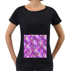 Flowers Abstract Digital Art Women s Loose Fit T Shirt (black)