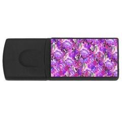 Flowers Abstract Digital Art Usb Flash Drive Rectangular (4 Gb)