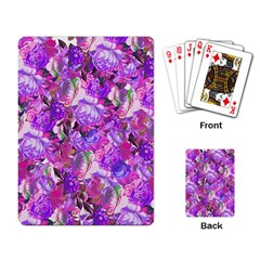 Flowers Abstract Digital Art Playing Card