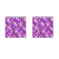 Flowers Abstract Digital Art Cufflinks (square)