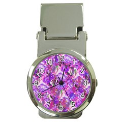 Flowers Abstract Digital Art Money Clip Watches