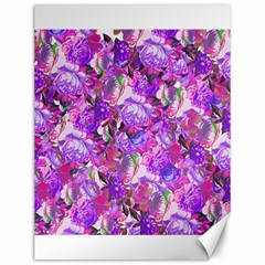 Flowers Abstract Digital Art Canvas 12  X 16