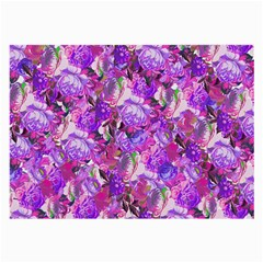 Flowers Abstract Digital Art Large Glasses Cloth