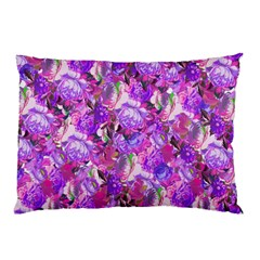 Flowers Abstract Digital Art Pillow Case