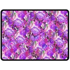 Flowers Abstract Digital Art Fleece Blanket (large)