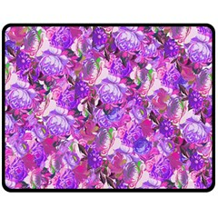 Flowers Abstract Digital Art Fleece Blanket (medium)