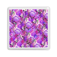 Flowers Abstract Digital Art Memory Card Reader (square)