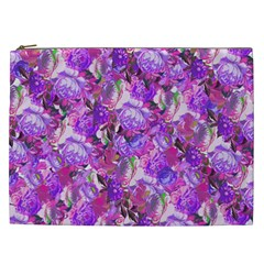 Flowers Abstract Digital Art Cosmetic Bag (xxl)