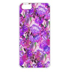 Flowers Abstract Digital Art Apple Iphone 5 Seamless Case (white)