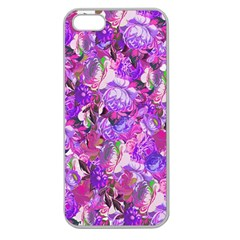 Flowers Abstract Digital Art Apple Seamless Iphone 5 Case (clear)
