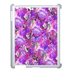 Flowers Abstract Digital Art Apple Ipad 3/4 Case (white)