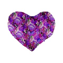 Flowers Abstract Digital Art Standard 16  Premium Heart Shape Cushions