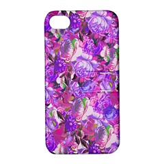 Flowers Abstract Digital Art Apple Iphone 4/4s Hardshell Case With Stand