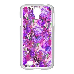 Flowers Abstract Digital Art Samsung Galaxy S4 I9500/ I9505 Case (white)