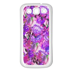 Flowers Abstract Digital Art Samsung Galaxy S3 Back Case (white)
