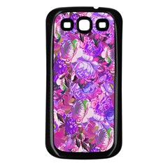 Flowers Abstract Digital Art Samsung Galaxy S3 Back Case (black)