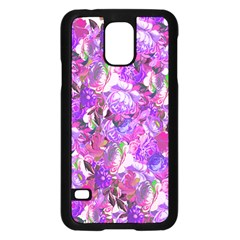 Flowers Abstract Digital Art Samsung Galaxy S5 Case (black)
