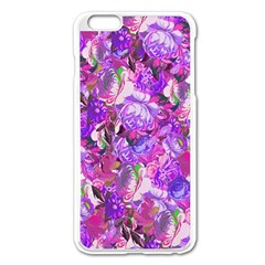Flowers Abstract Digital Art Apple Iphone 6 Plus/6s Plus Enamel White Case