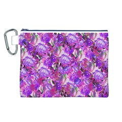 Flowers Abstract Digital Art Canvas Cosmetic Bag (l)