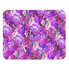 Flowers Abstract Digital Art Double Sided Flano Blanket (large)