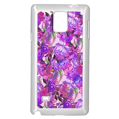 Flowers Abstract Digital Art Samsung Galaxy Note 4 Case (white)